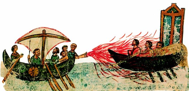 the invention of the greek fire a weapon used by the eastern roman emperors 5 amazing weapons of the ancient world though technically a weapon of the early middle ages, greek fire was first used in the byzantine or eastern roman.