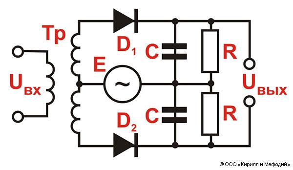 Детектор (фазовый, схема)