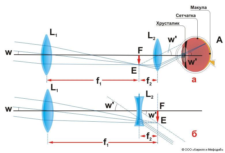 Зрительная труба (схема)