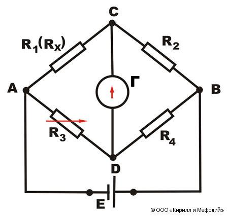 Электрическая схема одинарного