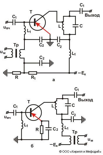 Модулятор (амплитудный, схема)