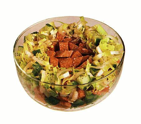 Немецкий салат с колбасой рецепт