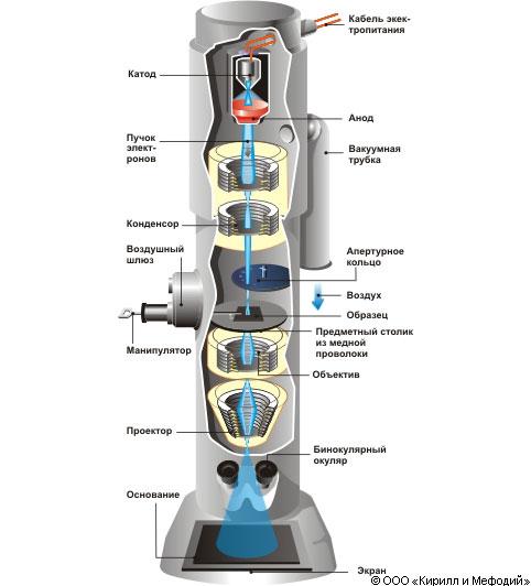 Электронный микроскоп (схема