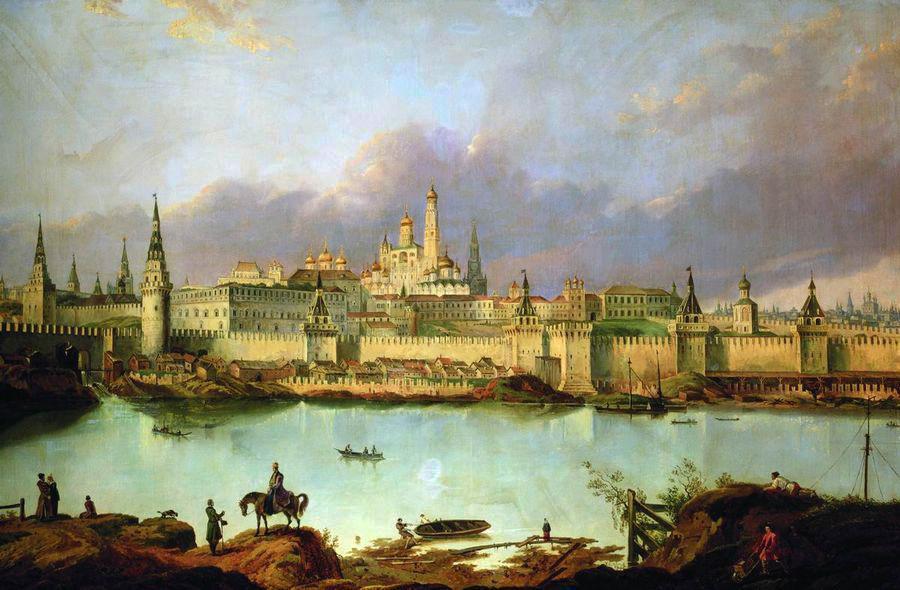 Москва (Вид Москвы времен Петра)