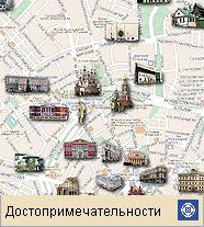 Москва (карта достопримечательностей)