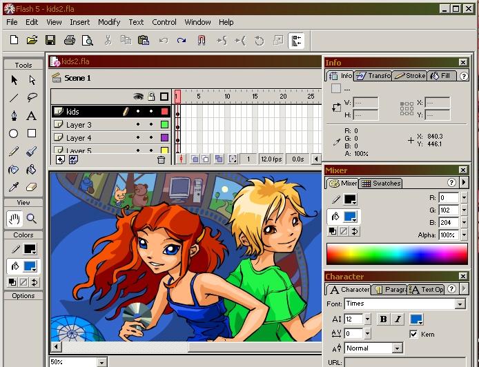 Как поставить картинку на передний план в macromedia flash